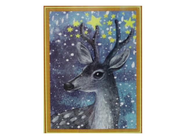 Творч Картина 2в1: Алмазная мозаика и Раскрашивание по номерам 30*40 Олень
