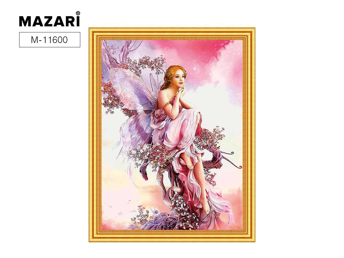 Творч Картина 2в1: Алмазная мозаика и Раскрашивание по номерам 30*40 Фея