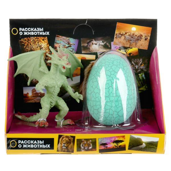 из ПВХ Зеленый дракон 10см с яйцом