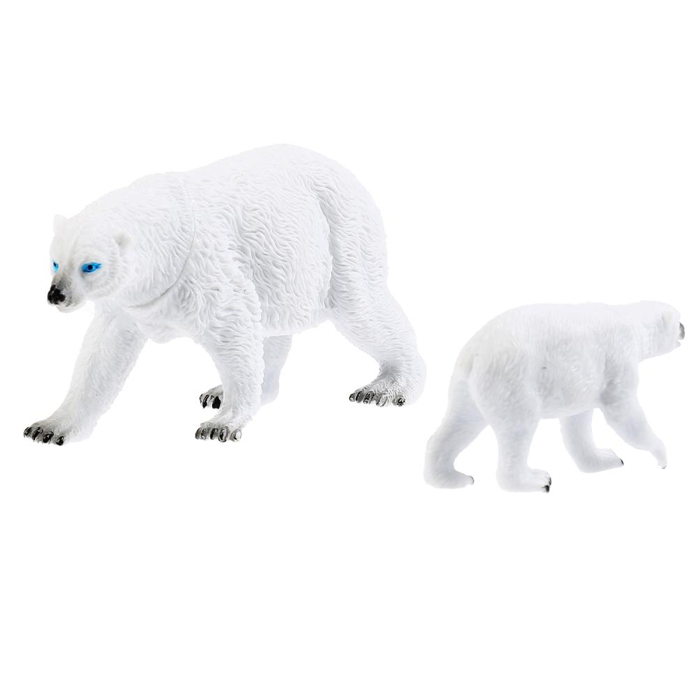из ПВХ Животные Мамы и малыши (белая медведица и медвежонок)