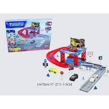Набор Парковка 2 уровня с машинами и аксесс Track