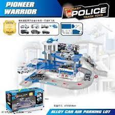 Набор Парковка 2 уровня с машинками и аксесс Police