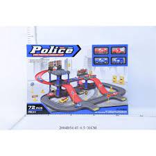 Набор Парковка 2 уровня с машинами и аксесс Police