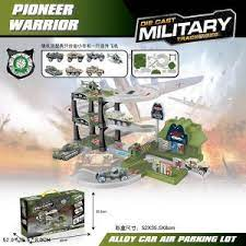 Набор Парковка 2 уровня с машинками и аксесс Military