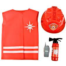 Костюм МЧС №2 (жилет,огнетушитель,каска,рация в чехле)