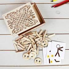 Игра Мозаика из палочек Человечки дерев