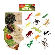 Игра Набор В мире насекомых с обучающими карточками 12 животных