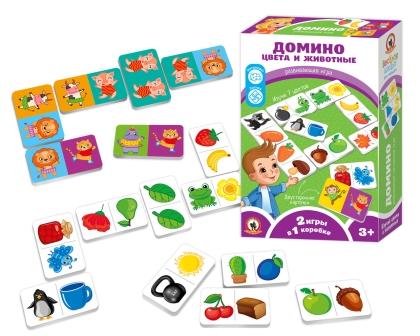 Игра Домино Цвета и Животные
