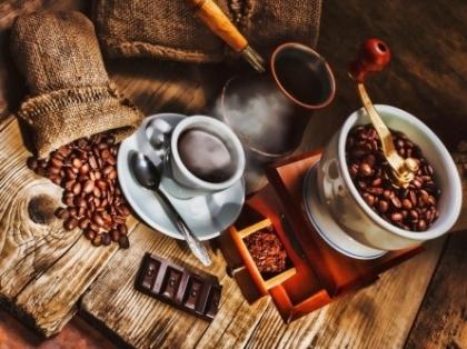 Творч Холст по номерам 40х50 Вкусный кофе с палитрой