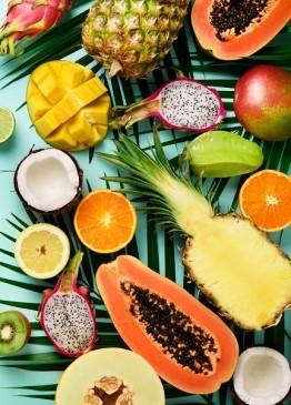 Творч Холст по номерам 40х50 Экзотические фрукты