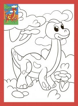 Творч Раскраска со стразами 19х26 Веселый динозаврик