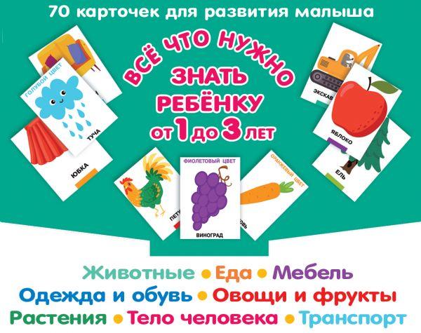 Все, что нужно знать ребенку от 1 до 3 лет. Растения, Животные, Еда, Мебель, Одежда и обувь, Овощи в фрукты, Тело человека, Транспорт
