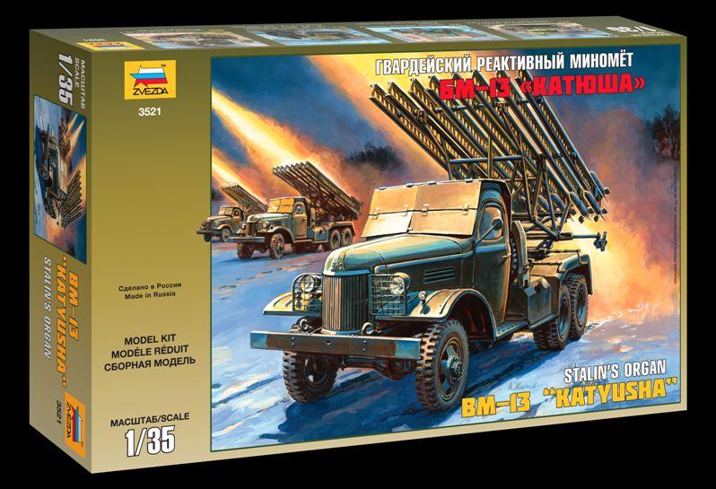 Сборная модель Гвардейский миномет БМ-13 Катюша 1/35
