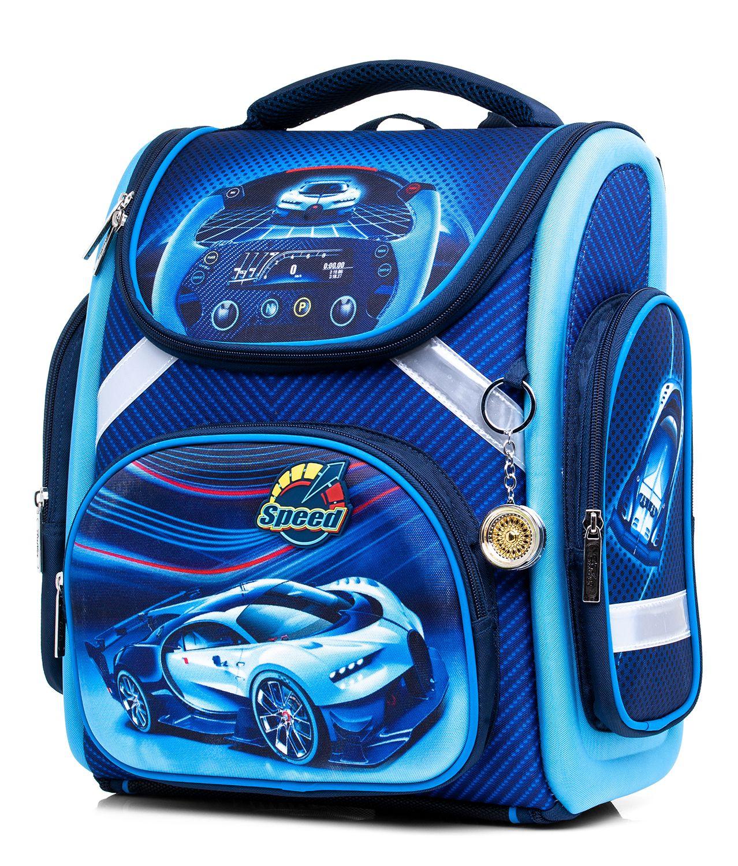 Ранец Hatber Speed car синий