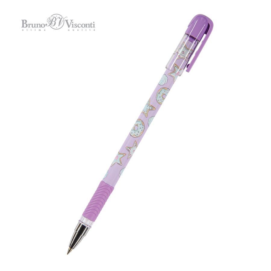 Ручка шариковая синяя BV MagicWrite Сладкое настроение. Звездочки 0,5мм