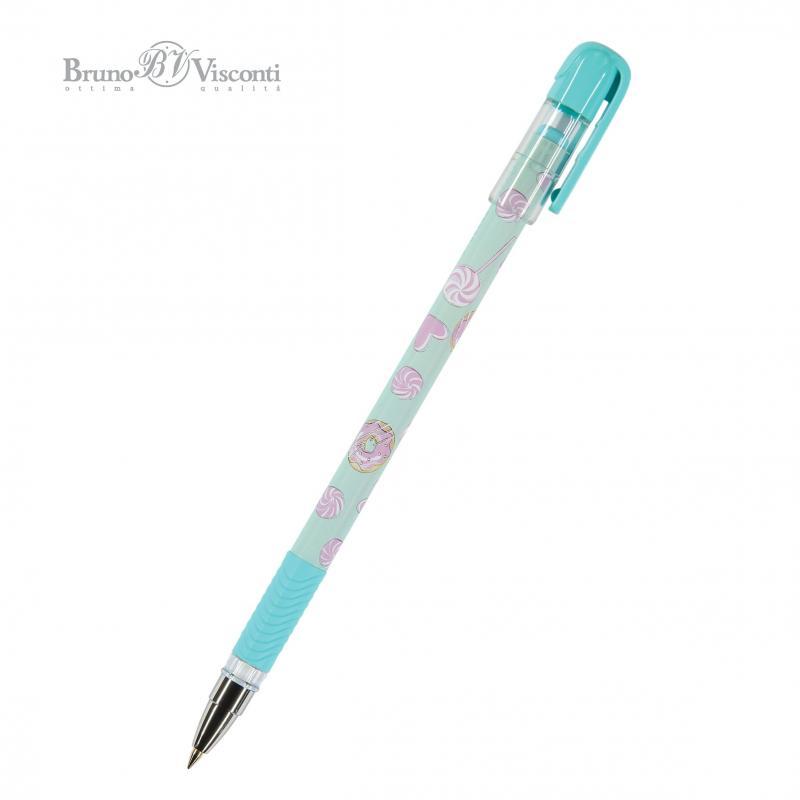 Ручка шариковая синяя BV MagicWrite Сладкое настроение. Леденцы 0,5мм