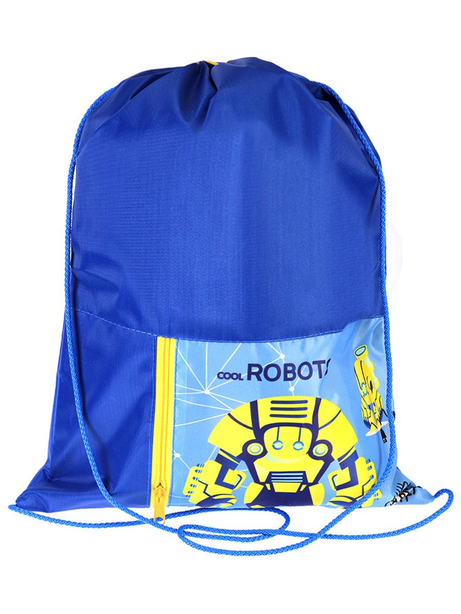 Мешок д/обуви Желтые роботы