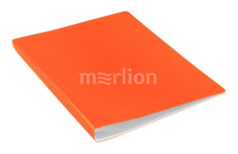 Папка-файл А4 10л Бюрократ Double Neon оранжевый