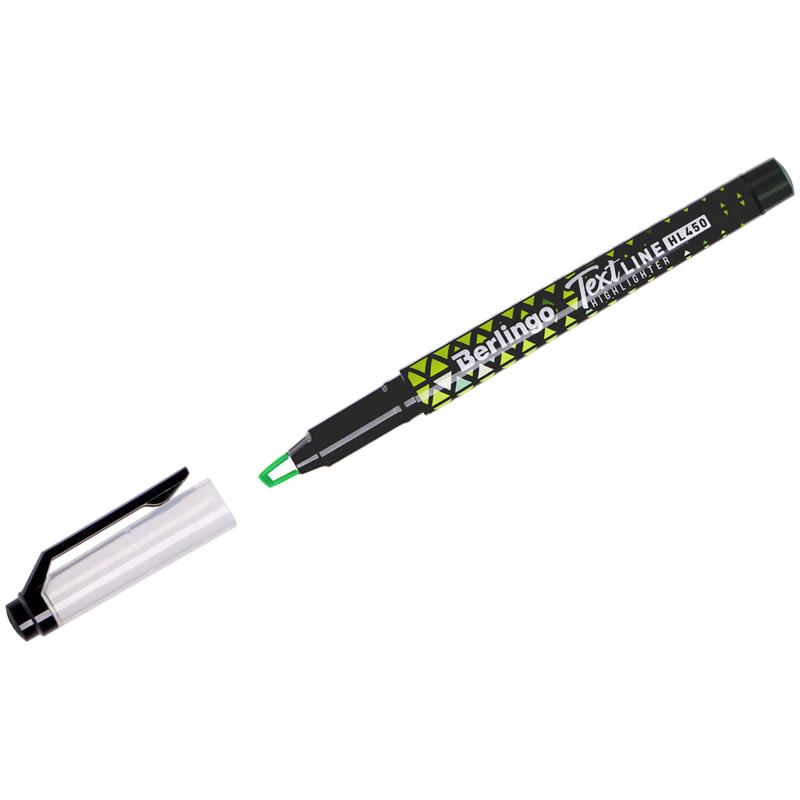 Маркер-выделитель зеленый 0,5-4мм