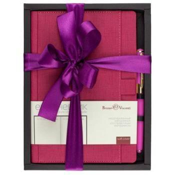 Набор подар BV Marseille розовый ежедневник А5 + ручка