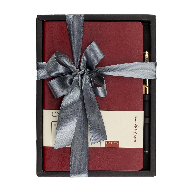 Набор подар BV Vincent бордовый ежедневник А5 + ручка