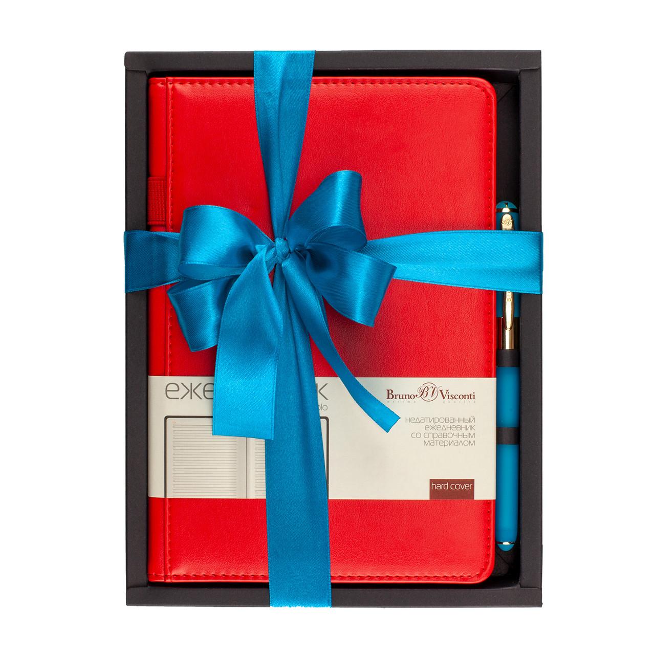 Набор подар BV Polo красный ежедневник  А5 + ручка