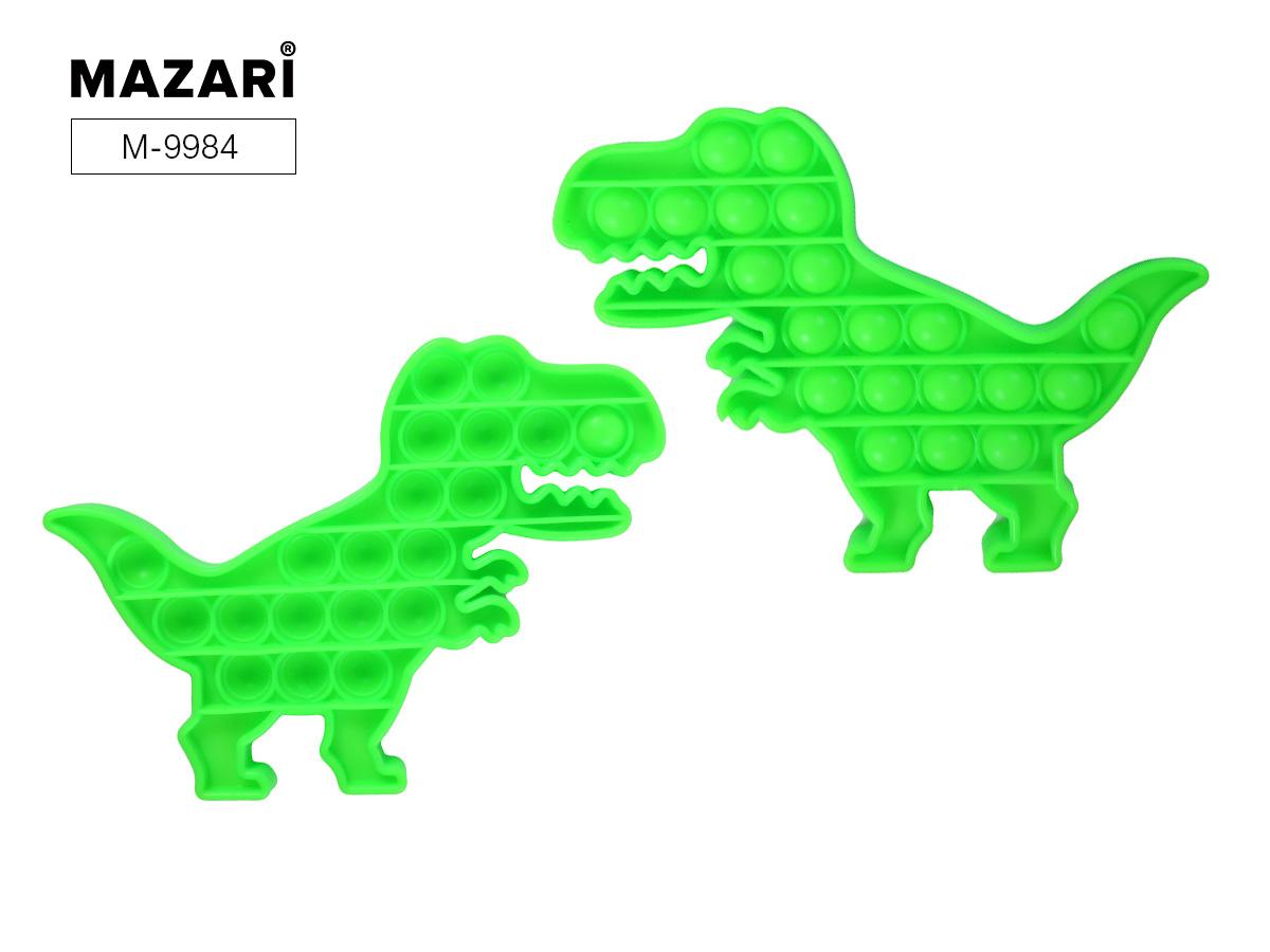 Антистресс развивающая POP IT (пупырка) Вечная пупырка 20,3х14,5см Динозавр зеленый