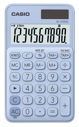 Калькулятор 10 разр. Casio карманный светло-голубой
