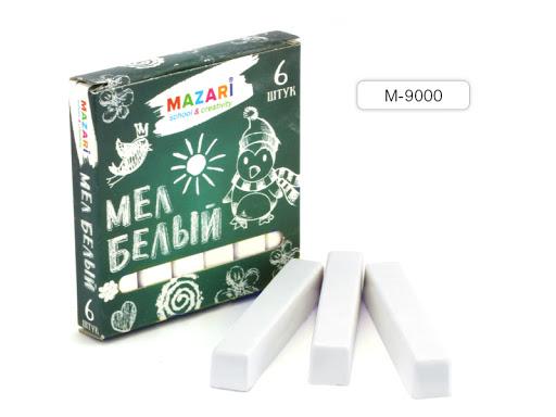 Мелки белые 6 шт Mazari
