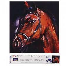 Творч Алмазная мозаика 30*30 Лошадь