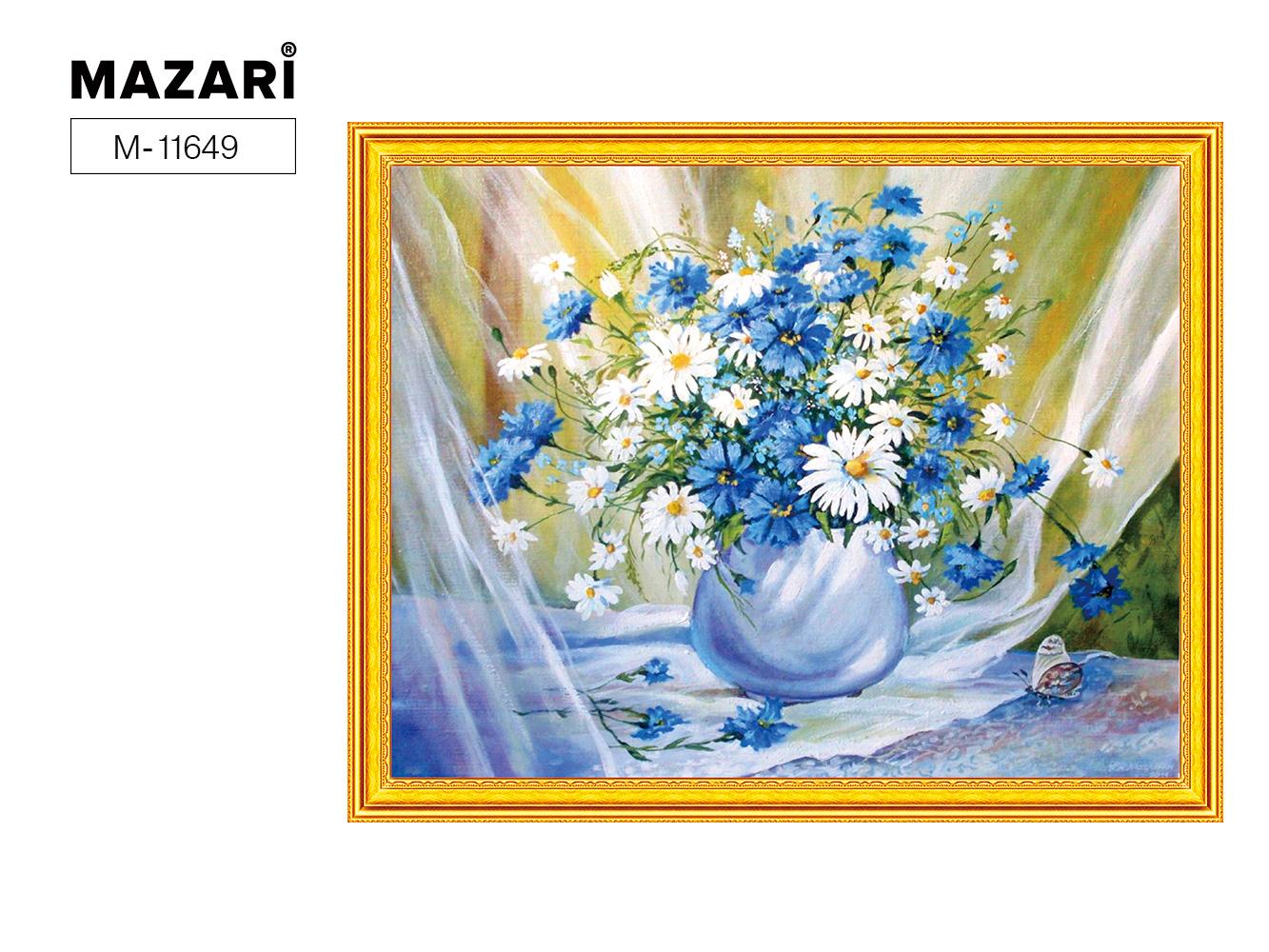 Творч Картина 2в1: Алмазная мозаика и Раскрашивание по номерам 40*50 Букет