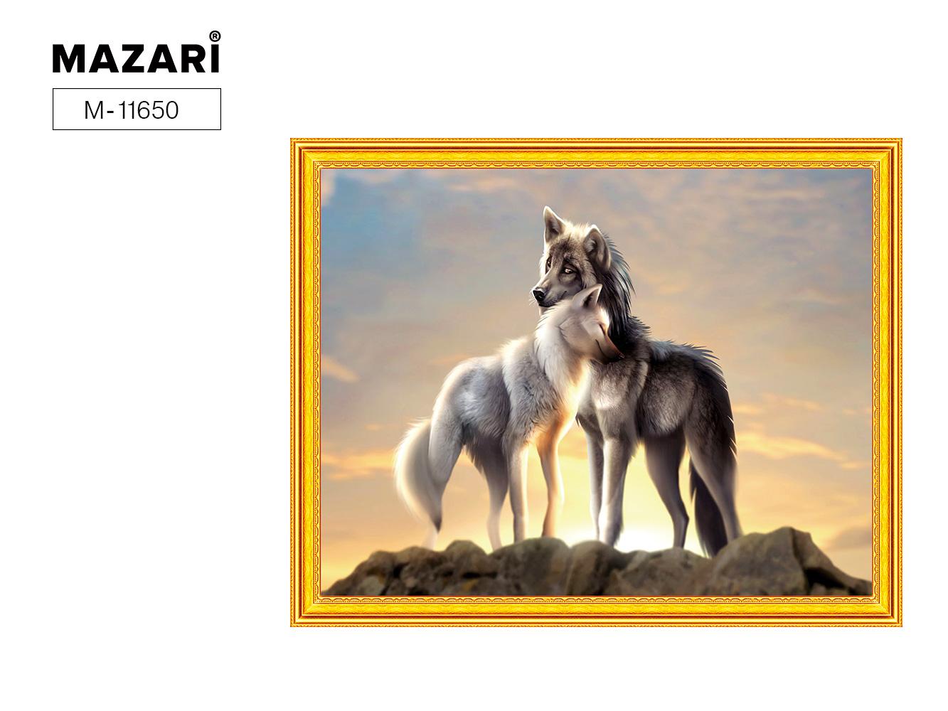 Творч Картина 2в1: Алмазная мозаика и Раскрашивание по номерам 40*50 Волки