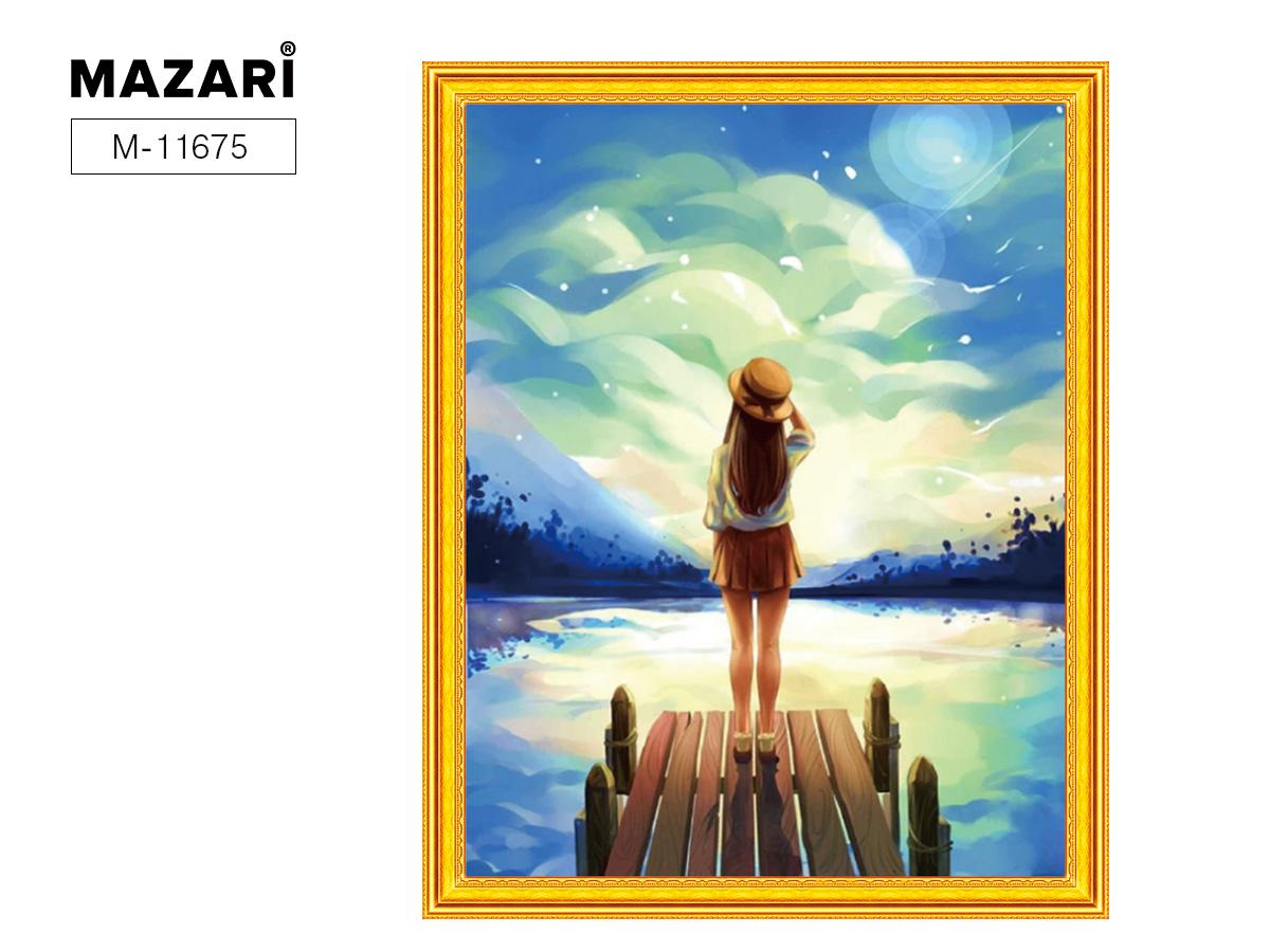 Творч Картина 2в1: Алмазная мозаика и Раскрашивание по номерам 40*50 Мечтатель