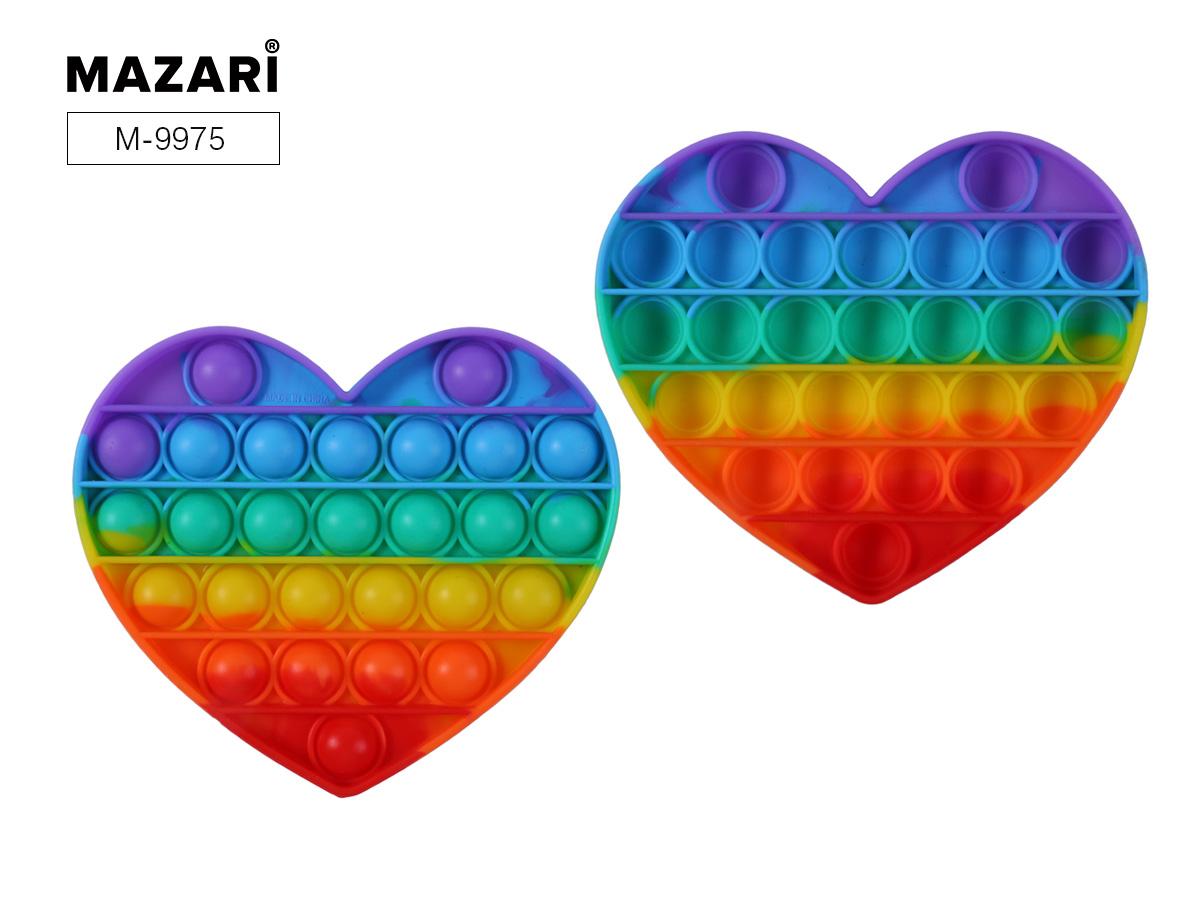 Антистресс развивающая POP IT (пупырка) Вечная пупырка 14,7х12,5см Сердце радужное