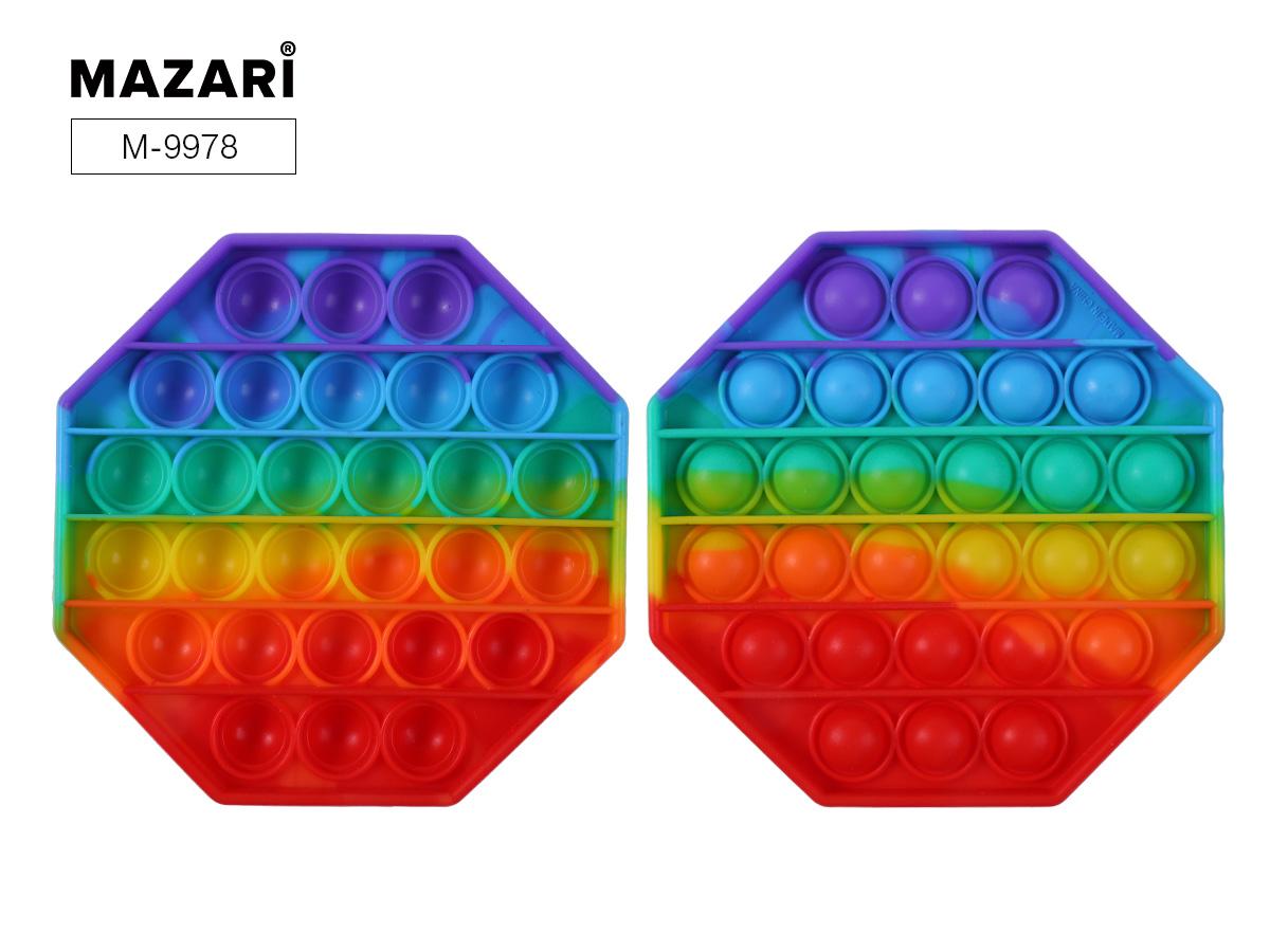 Антистресс развивающая POP IT (пупырка) Вечная пупырка 12,5х12,5см Восьмиугольник радужный