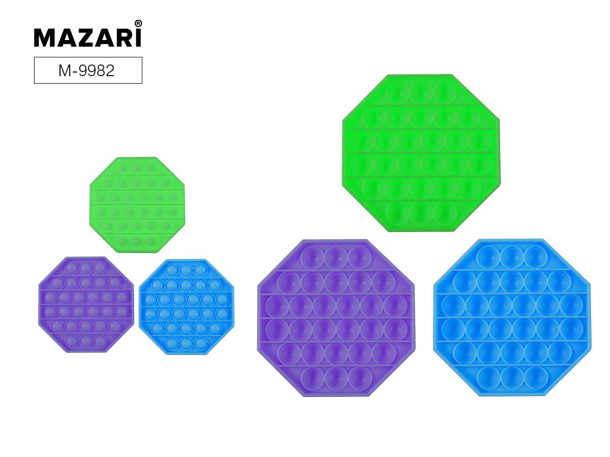 Антистресс развивающая POP IT (пупырка) Вечная пупырка 12,5х12,5см Восьмиугольник голубой
