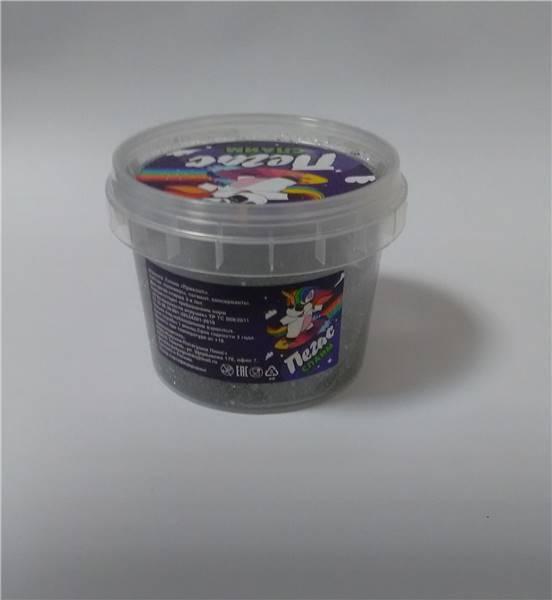 Слайм Прихлоп Slime 90гр пегас серебро голография