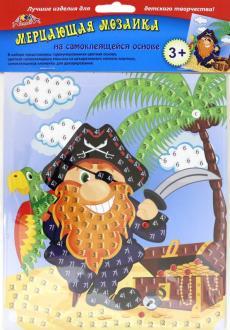 Творч Мозаика самокл. мерцающая А5 Пират