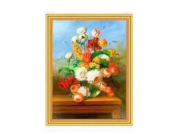 Творч Картина 2в1: Алмазная мозаика и Раскрашивание по номерам 30*40 Букет