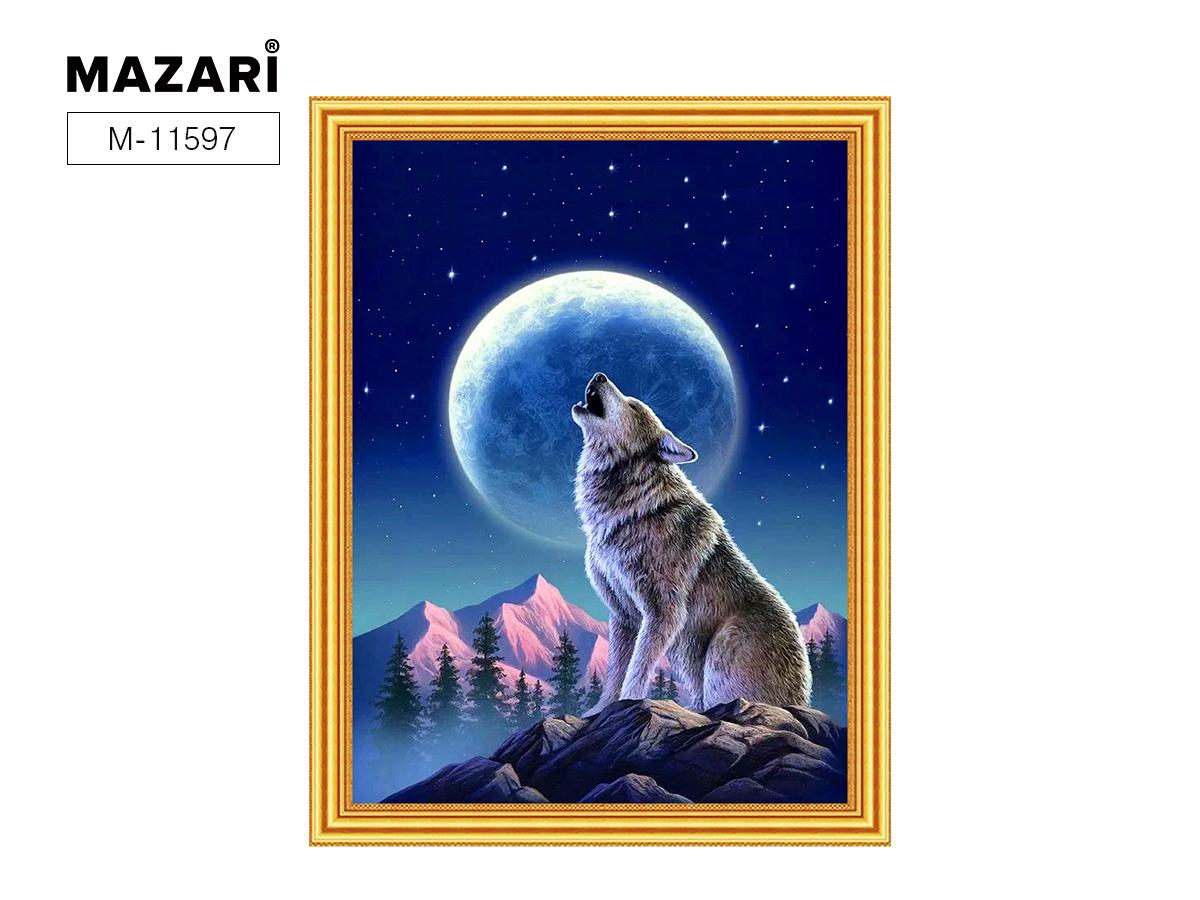 Творч Картина 2в1: Алмазная мозаика и Раскрашивание по номерам 30*40 Волк