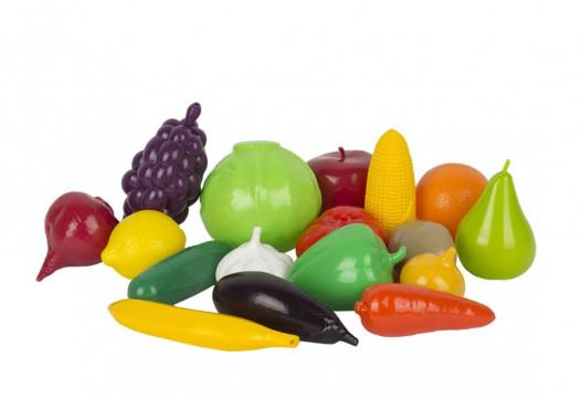 набор Фрукты и овощи пластмас. (17 пред.)