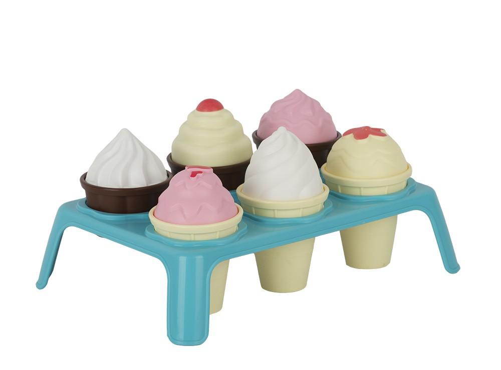 набор Лакомка 7 пр. (мороженое 3шт, кекс 3шт., подставка)