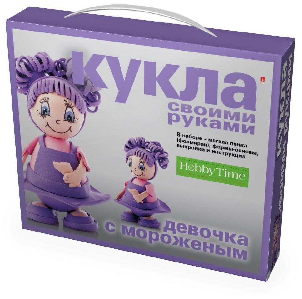 Творч Кукла своими руками фоамиран Девочка с мороженым