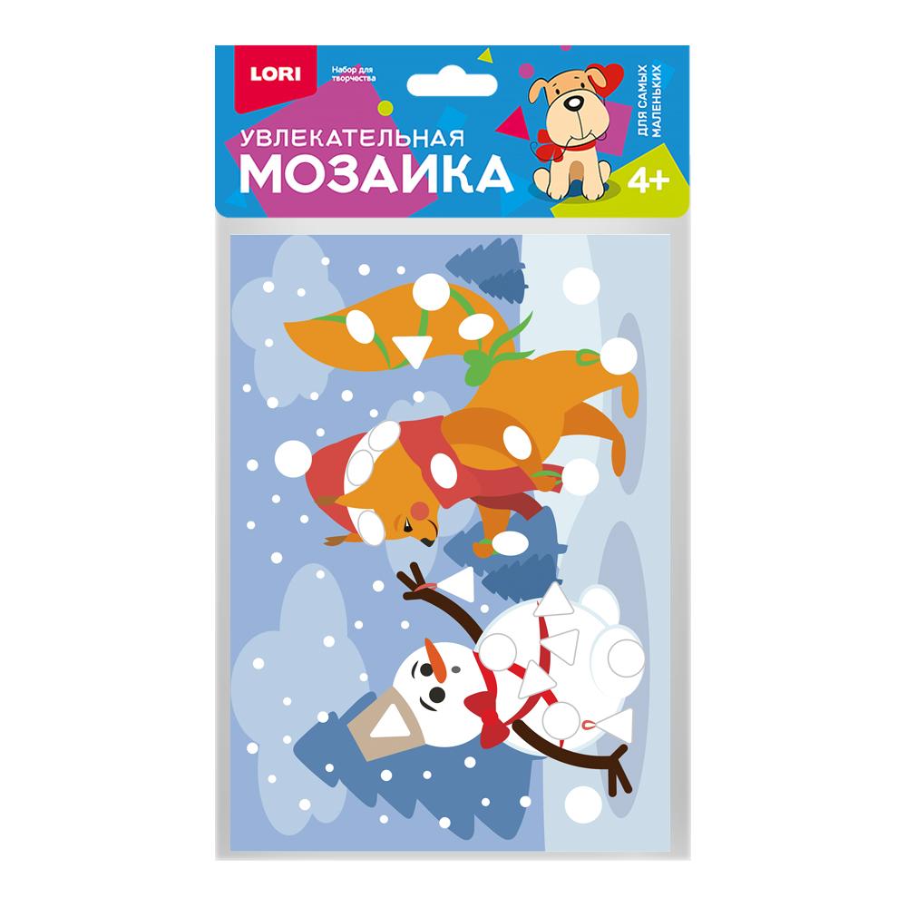 Творч Мозаика мягкая Белочка и снеговик