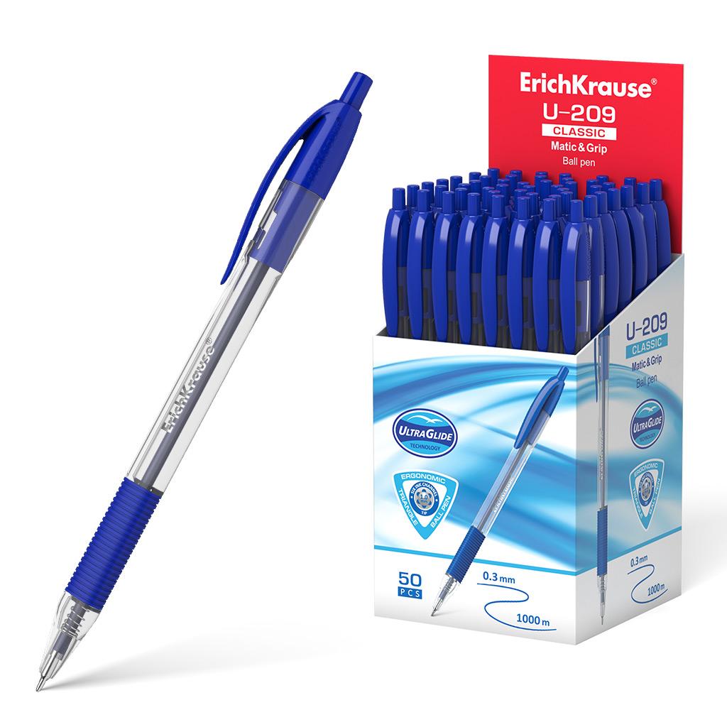 Ручка шариковая синяя EK U-209 Classic Matic&Grip 1.0, Ultra Glide Technology