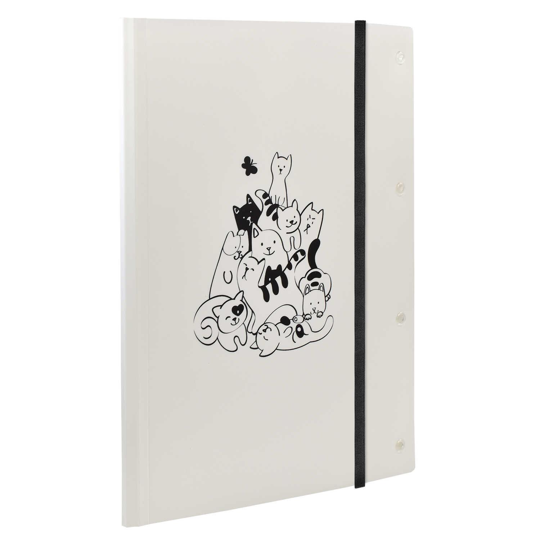 Папка для чертежей и рисунков пластиковая А4 Коты