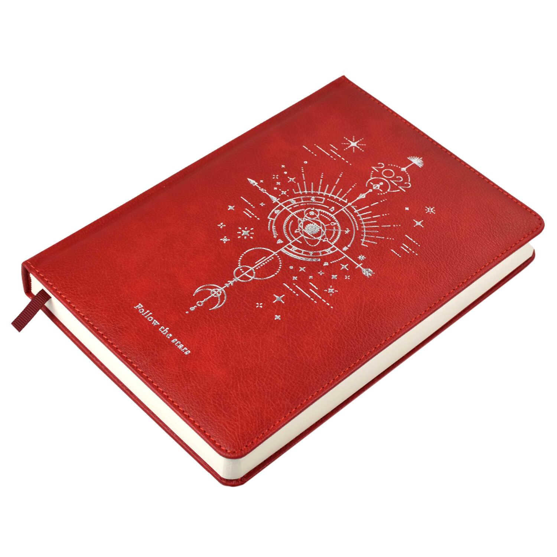 Ежедневник А5 2022г Escalada Наппа красный кожзам