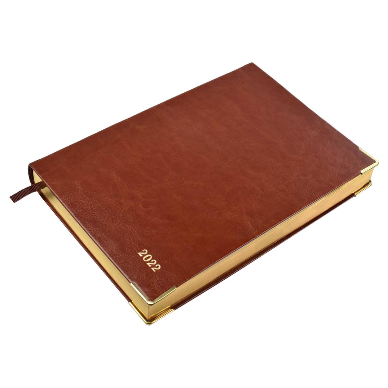 Ежедневник А5 2022г Escalada Сариф коричневый кожзам