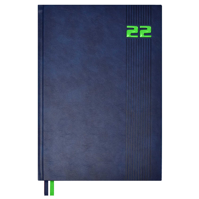Ежедневник А4 2022г Escalada Флоттер синий кожзам