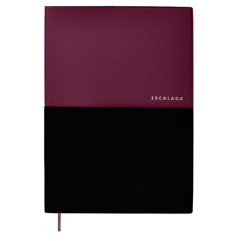 Ежедневник А4 Escalada Фиолетовый+чёрный пвх кожзам